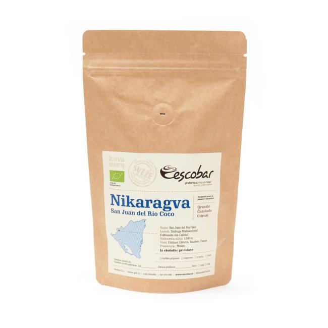 EKO kava s poreklom Nikaragva San Juan del Rio Coco