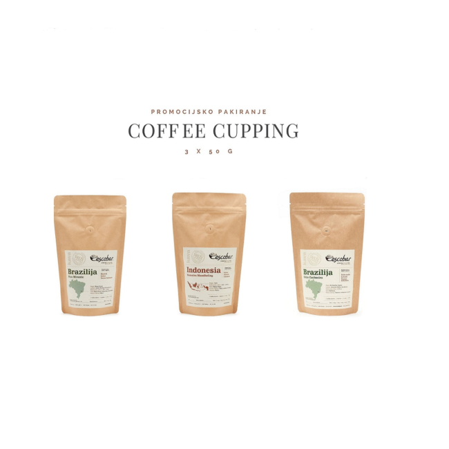 Escobar Coffee Cupping paket 3 x 50 g
