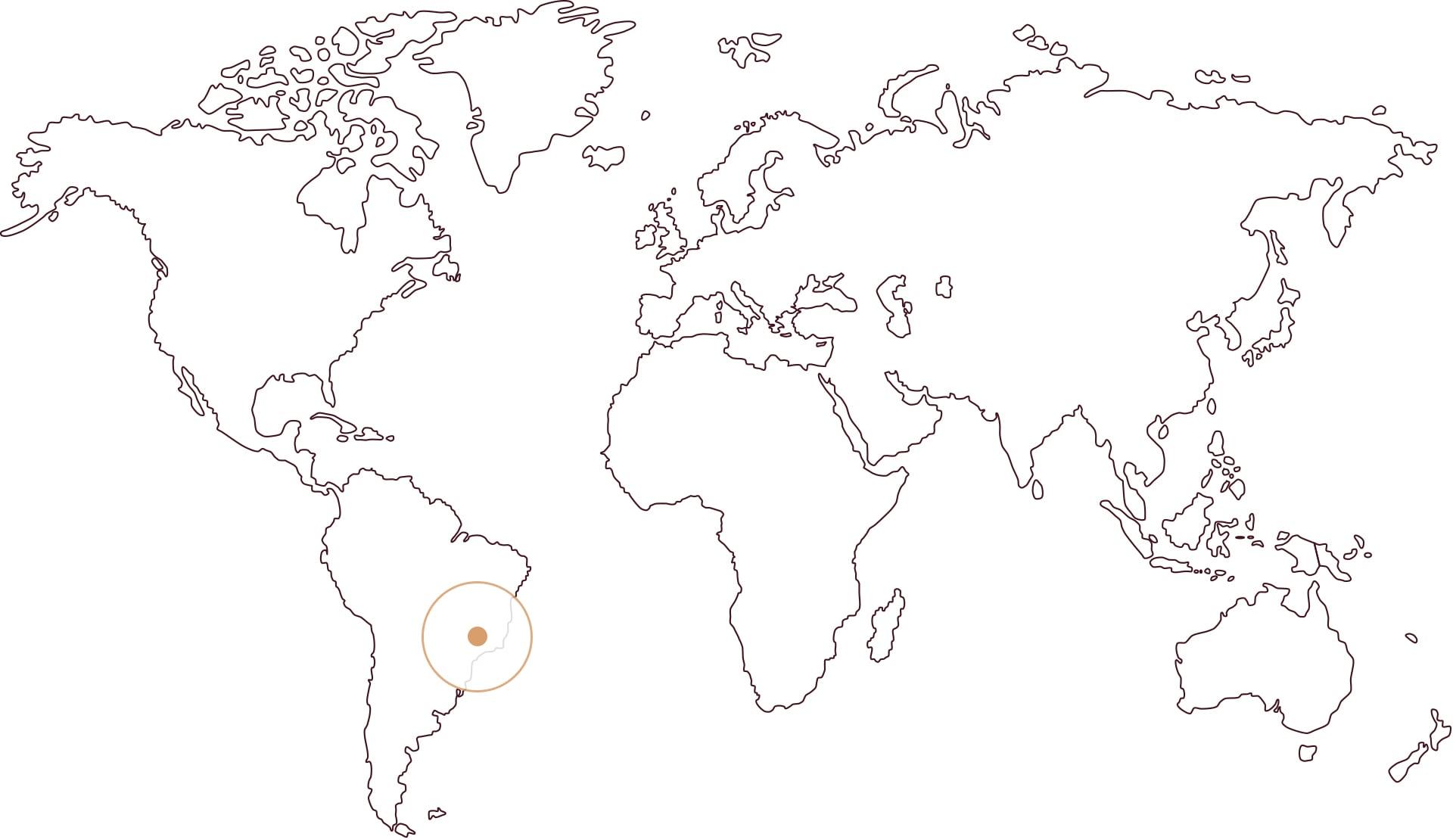 Zemljevid Brazilija PICO MIRANTE