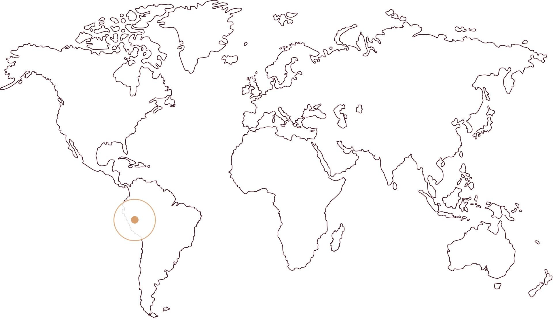 Zemljevid Peru